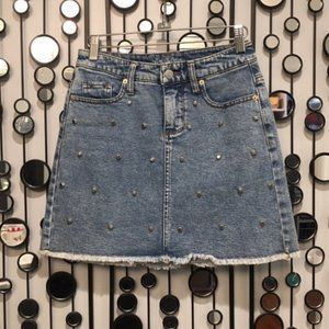 wild fable Denim Studded Skirt